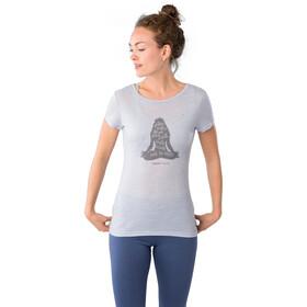 super.natural Printed Tee Women skyway melange/silver grey calm down